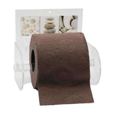 Belle Ile Toilet Paper Holder Paper 1-Roll Holder Suction Mounted in 100% Acrylic