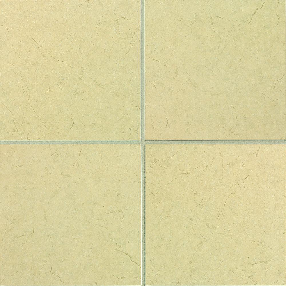 Daltile Marissa Crema Marfil 12 in. x 12 in. Ceramic Floor and Wall ...