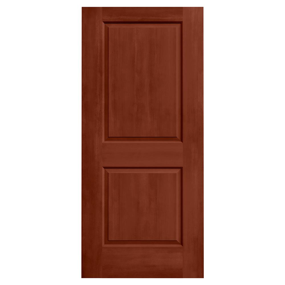 Jeld wen 36 in x 80 in cambridge amaretto stain solid for Solid core mdf interior doors