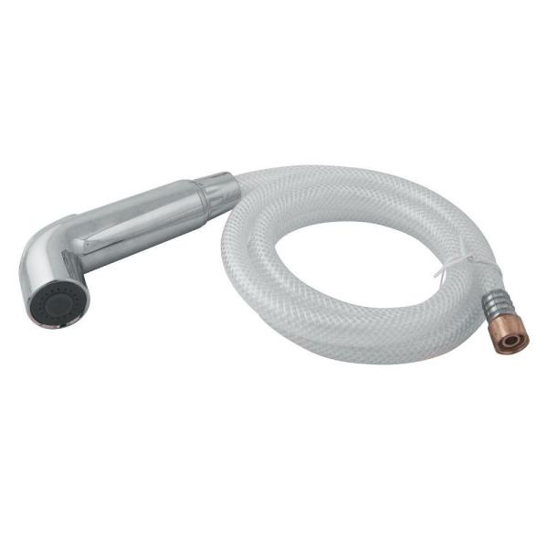 Sidespray and Hose for Kitchen Faucet, Polished Chrome