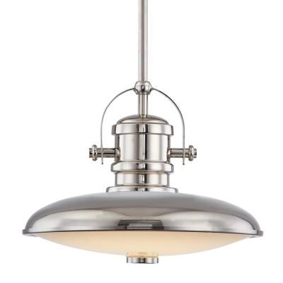 12 in. Polished Nickel LED Pendant