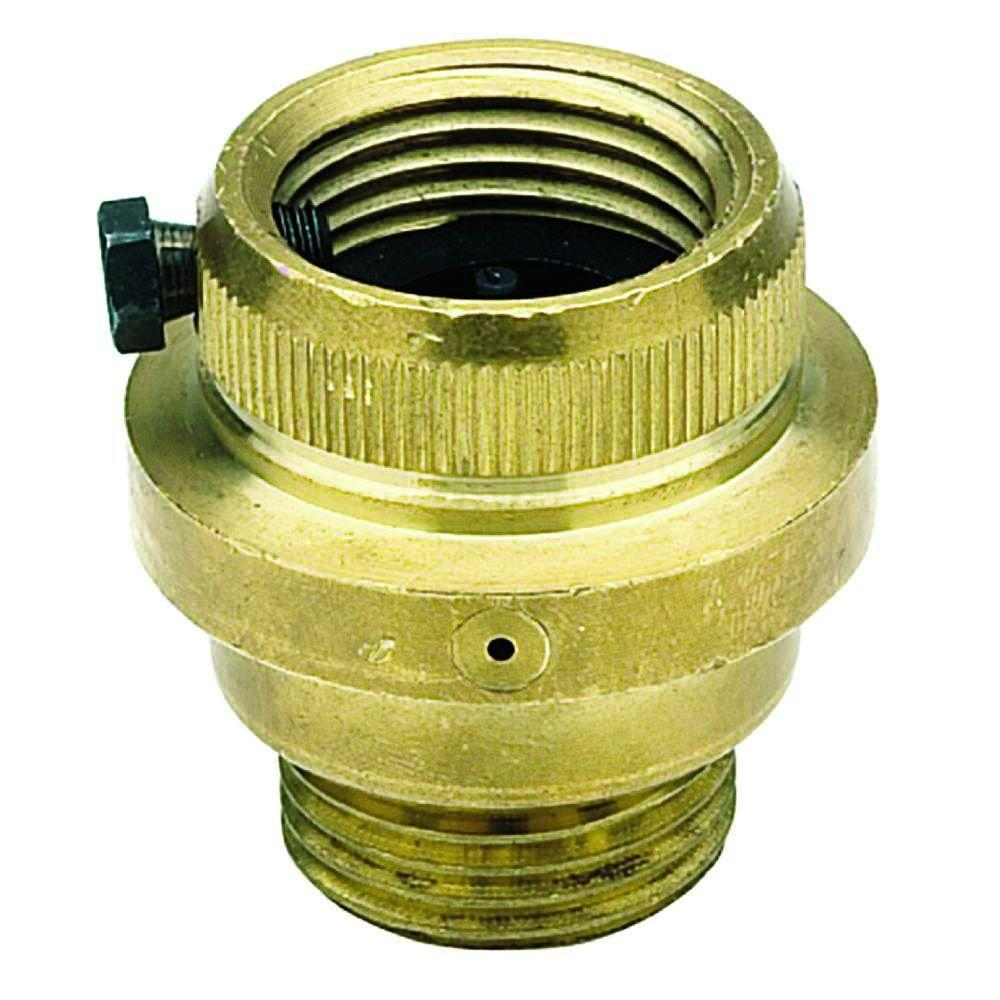 In brass vacuum breaker fr the home depot