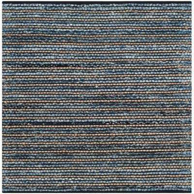 Cape Cod Blue/Natural 4 ft. x 4 ft. Square Area Rug