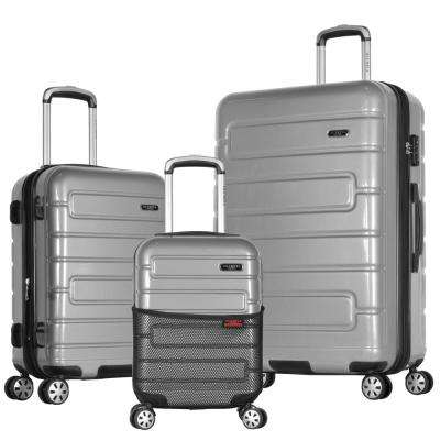 Nema 3-Piece Silver PC Exp. Hardcase Spinner Set with TSA Lock