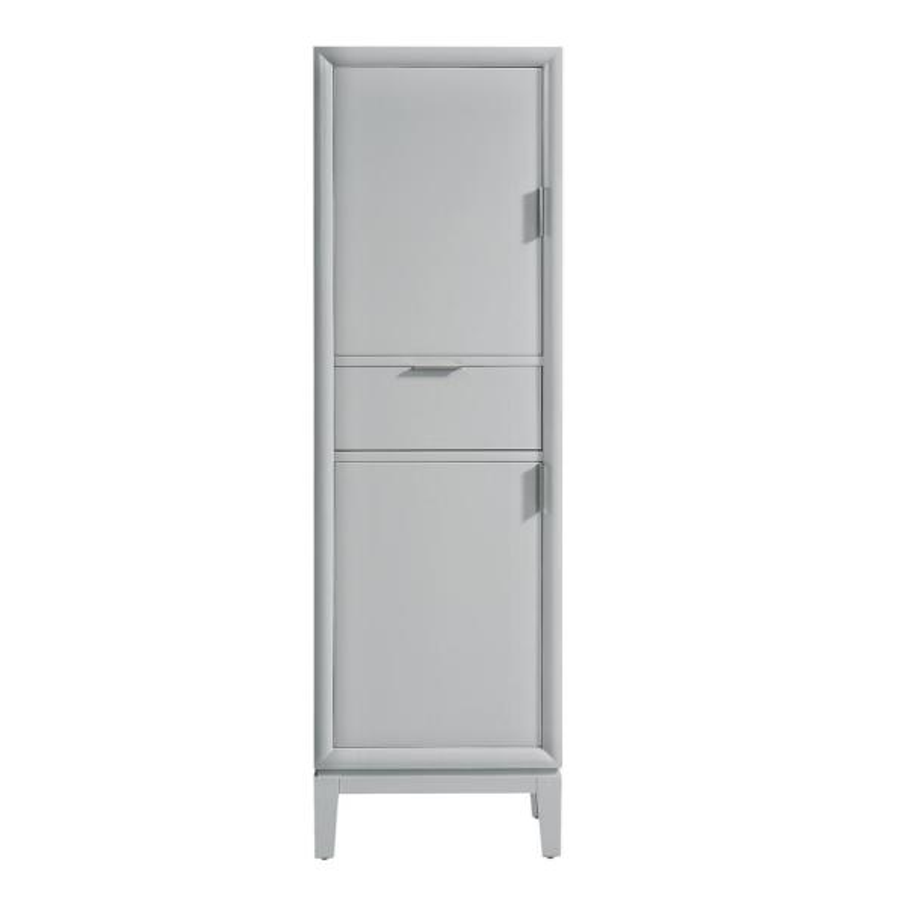 Emma 20 in. W x 15 in. D x 65 in. H Floor Cabinet in. Dove Gray Finish