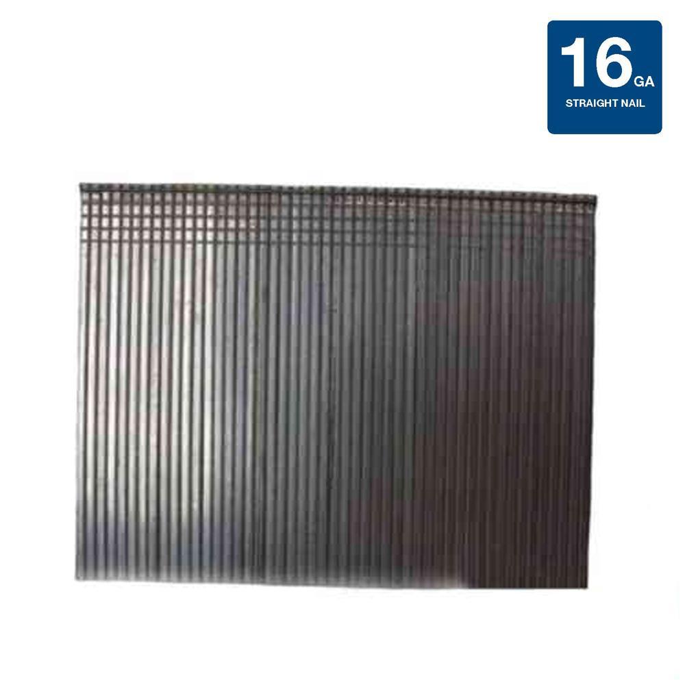 2 in. x 16-Gauge Electro-Galvanized Steel Finish Nails (4000 per Box)