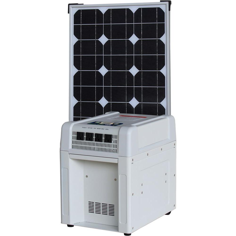 KISAE Home Solar Kit - 1800-Watt Inverter, 60Ah Battery, 8 Amp Charge Controller, 80-Watt Solar Panel