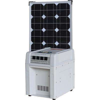 Home Solar Kit - 1800-Watt Inverter, 60Ah Battery, 8 Amp Charge Controller, 80-Watt Solar Panel