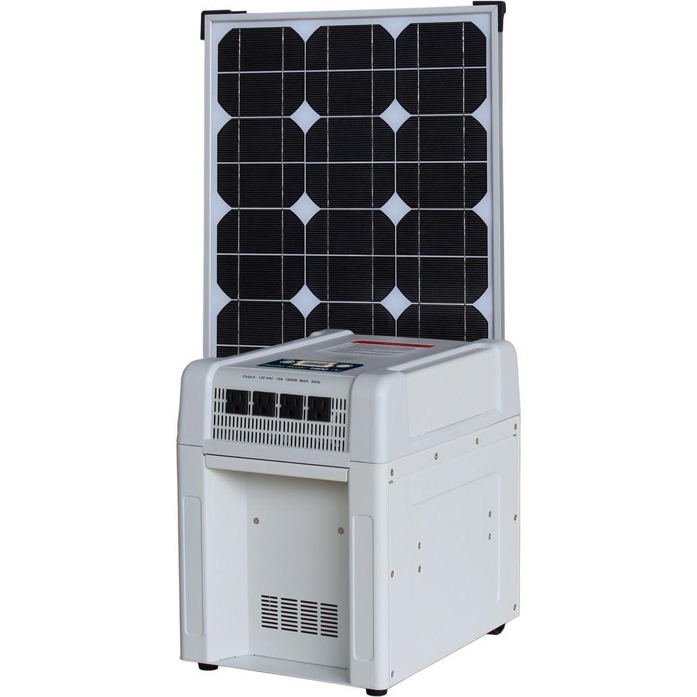 Home Solar Kit - 1800-Watt Inverter, 60Ah Battery, 8 Amp Charge Controller, 80-Watt Solar Panel