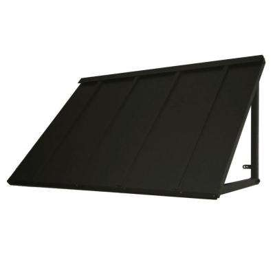 5 ft. Houstonian Metal Standing Seam Awning (24 in. H x 24 in. D) in Black