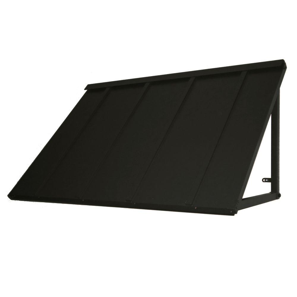 Beauty-Mark 6 ft. Houstonian Metal Standing Seam Awning (24 in. H x 24 in. D) in Black