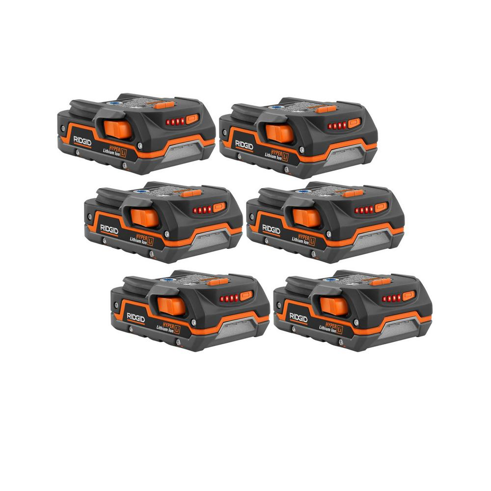 RIDGID 18-Volt 1.5 Ah Compact Lithium-Ion Battery (6-Pack) was $474.0 now $159.0 (66.0% off)