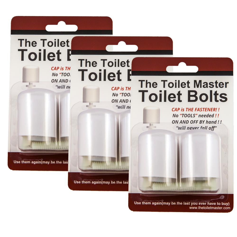 Toilet Master Tool-free Toilet Bolt and Cap System (3-Pack)