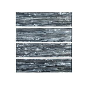 Jeffrey Court Abalone Gray 3 In X 12 In Glass Wall Tile