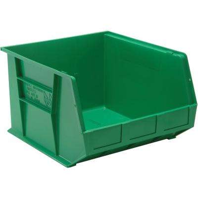 Ultra Series Stack and Hang 8.5 Gal. Storage Bin in Green (3-Pack)