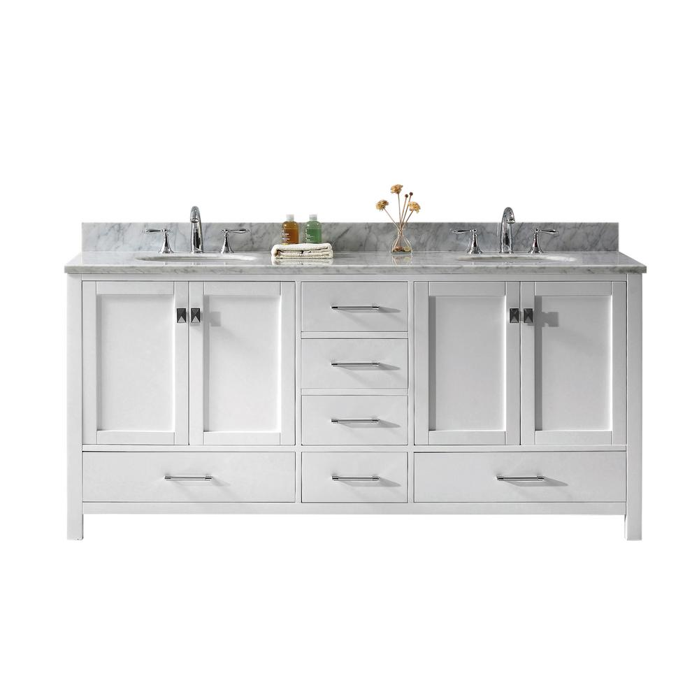 Caroline Avenue 72 in. W x 22 in. D Double Vanity