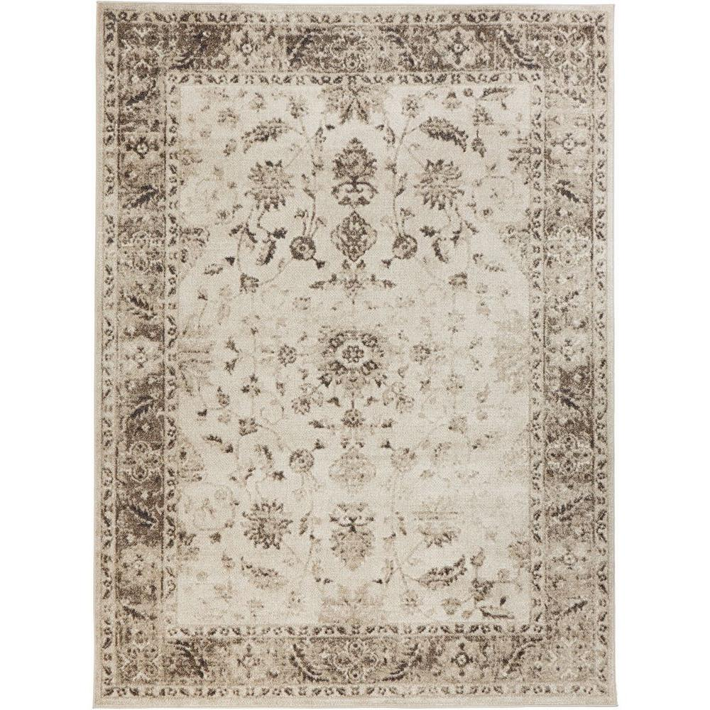 Home Decorators Collection Old Treasures Beige 5 Ft. 3 In