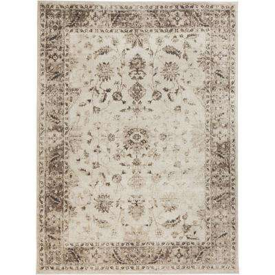 Old Treasures Beige 8 ft. x 10 ft. Area Rug