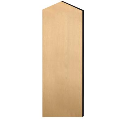 Designer Double End Side Panel With Sloping Hood for 24 in. D Extra Wide Designer Wood Locker in Maple