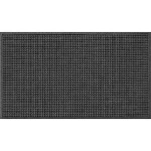 Aqua Shield Charcoal 36 inch x 60 inch Squares Polypropylene Door Mat by Aqua Shield