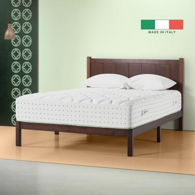 Italian Made 12 in. Medium-Firm Quilted Top Full Olive Oil Hybrid Spring Mattress