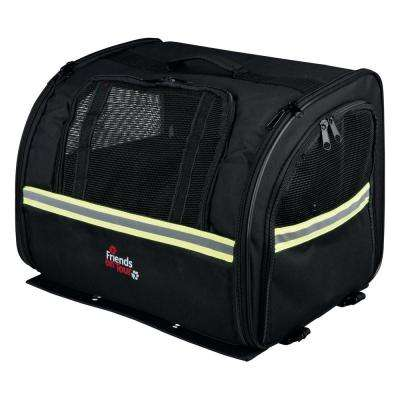 Pet Carrier for Bicycle Rear Rack Attach Biker-Bag in Black