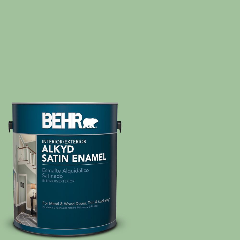 Bic 25 Spring Sprig Satin Enamel Alkyd Interior Exterior Paint
