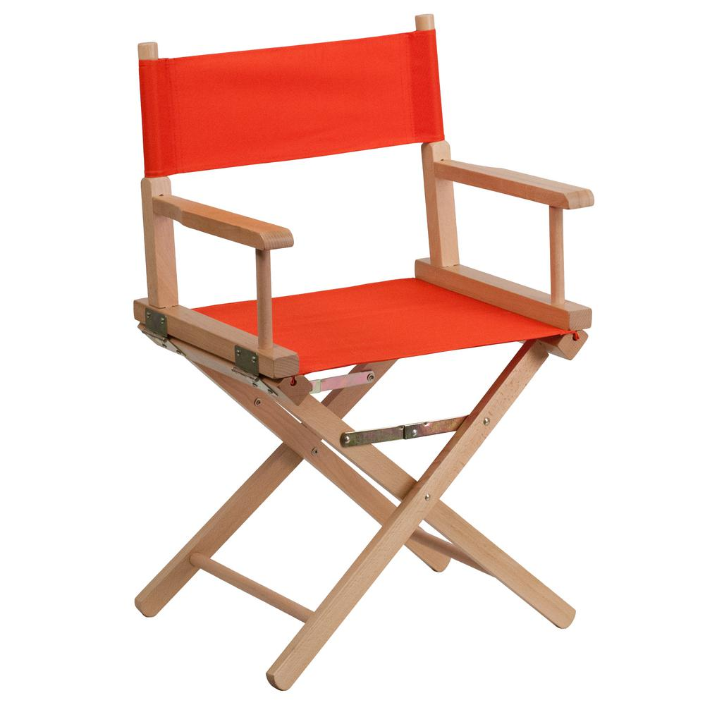 Standard Height Directors Red Chair