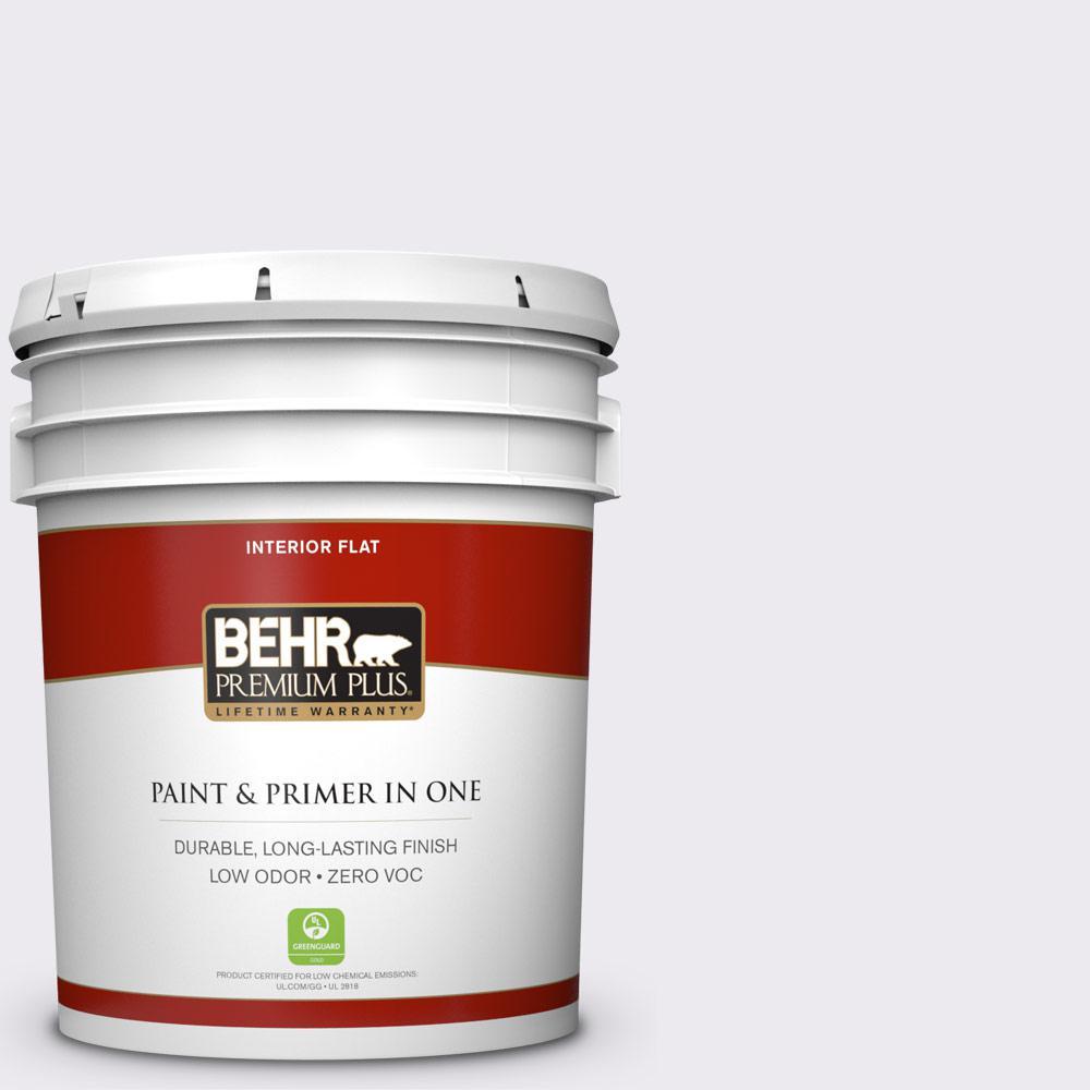 BEHR Premium Plus 5-gal. #630A-1 Amethyst Cream Zero VOC Flat Interior Paint