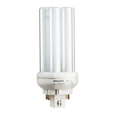 18-Watt Gx24q-2 PL-T CFL Amalgam Compact Quad Tube 4-Pin Light Bulb Soft White
