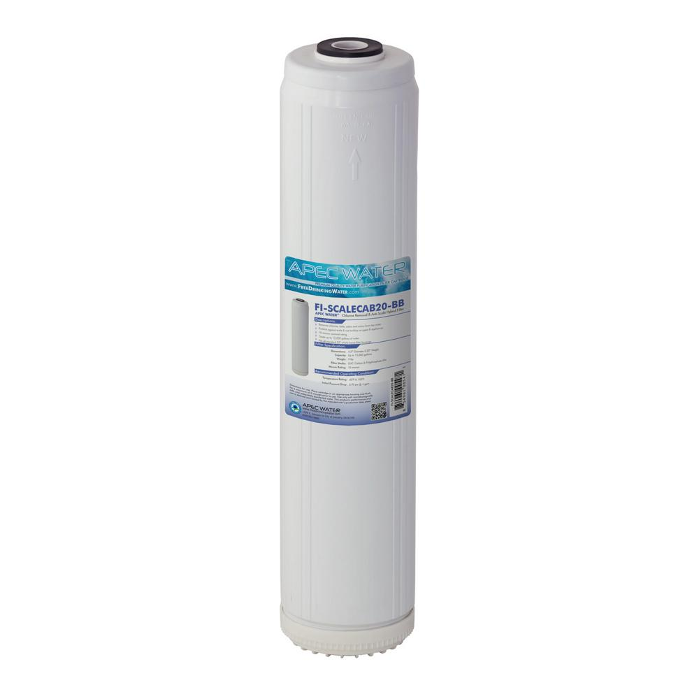 20 in. Whole House Replacement Water Filter Chlorine Removal and Anti-Scale