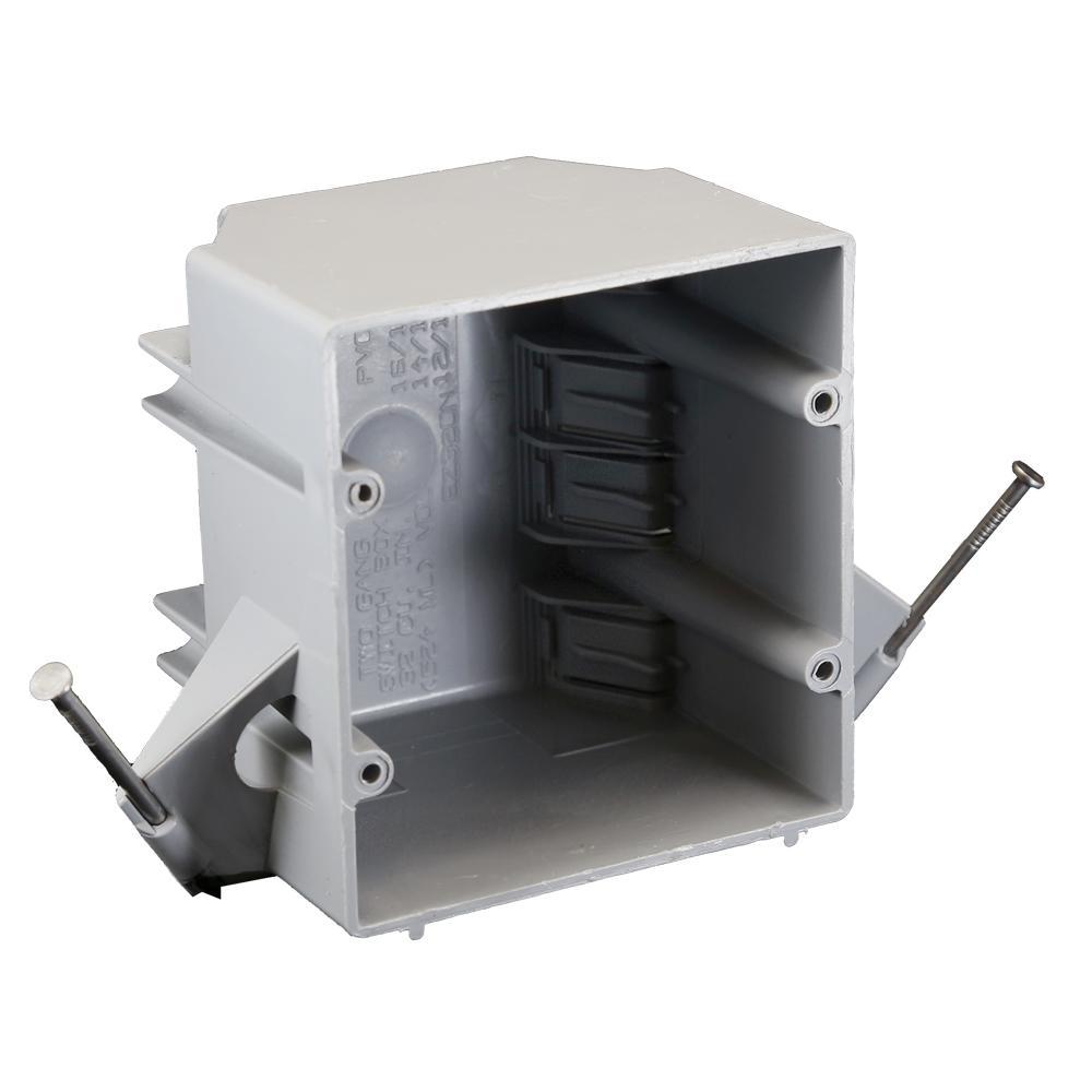 32 cu. in. 2 GANG BOX W/NAILS