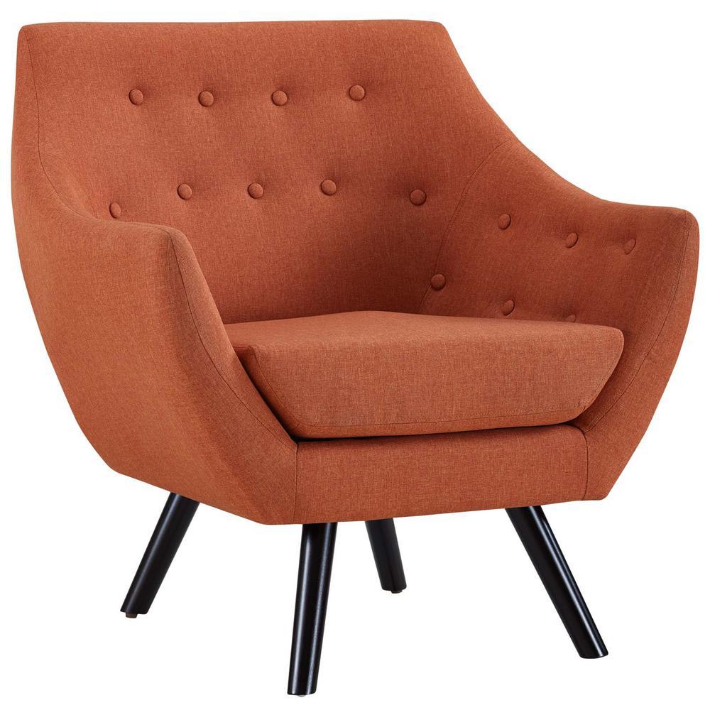Orange Allegory Arm Chair