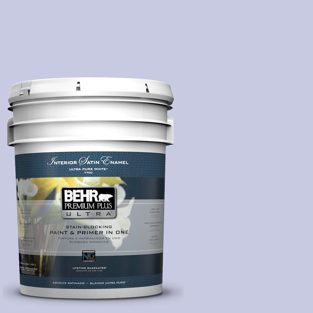 BEHR Premium Plus Ultra 5-gal. #630C-3 Timeless Lilac Satin Enamel Interior Paint