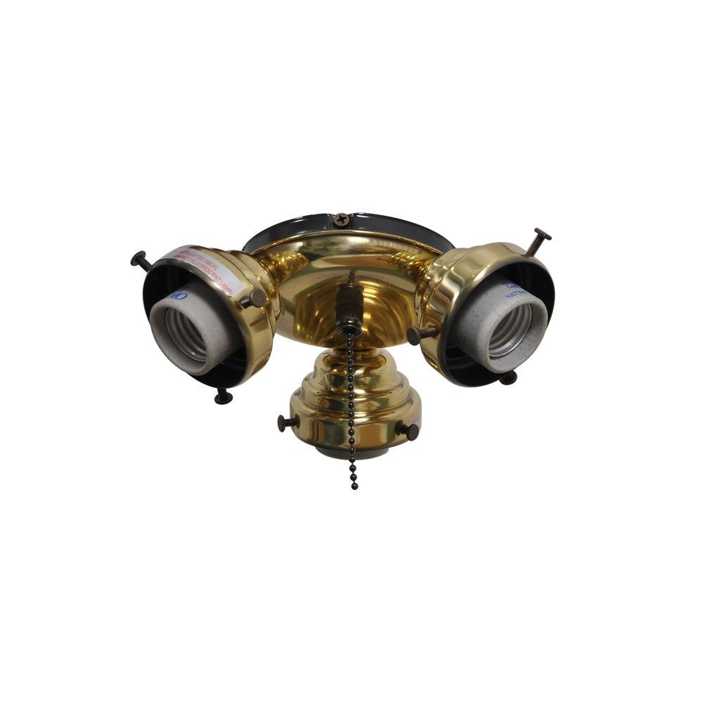 Air Cool Sinclair 44 In Flemish Brass Ceiling Fan Replacement Light Kit 593547014 The Home Depot