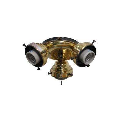Sinclair 44 in. Flemish Brass Ceiling Fan Replacement Light Kit