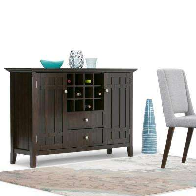 Bedford Tobacco Brown Buffet with Wine Storage
