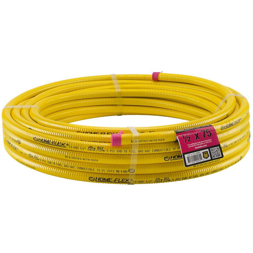 null HOME-FLEX 1/2 in. x 75 ft. CSST Corrugated Stainless Steel Tubing