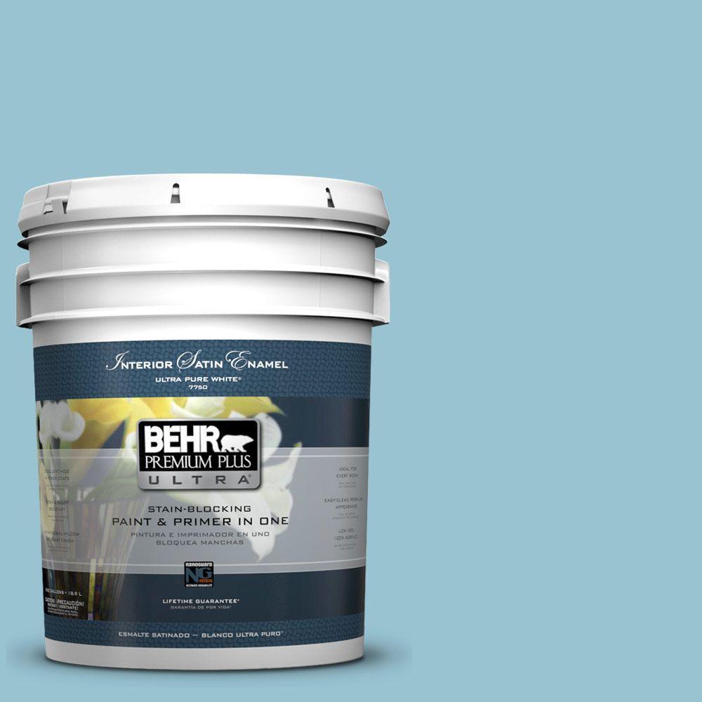 BEHR Premium Plus Ultra 5-gal. #520E-3 Velvet Morning Satin Enamel Interior Paint