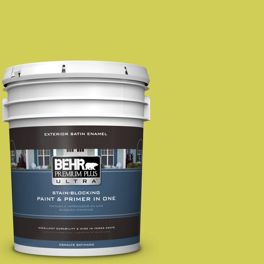 BEHR Premium Plus Ultra 5-gal. #400B-5 Grape Green Satin Enamel Exterior Paint