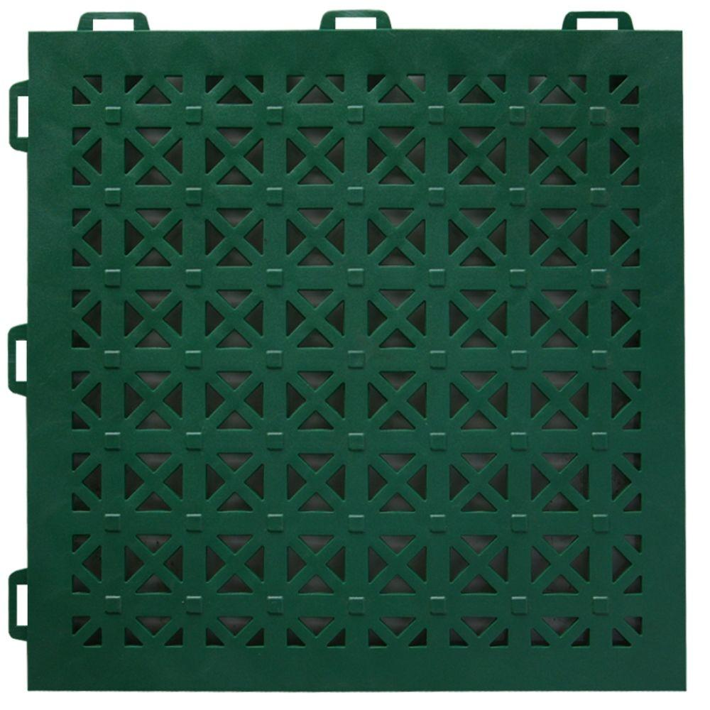 StayLock Perforated Green 12 in. x 12 in. x 0.56 in.