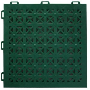 Greatmats Staylock Perforated Green 12 In X 12 In X 0 56 In Pvc Plastic Interlocking Outdoor