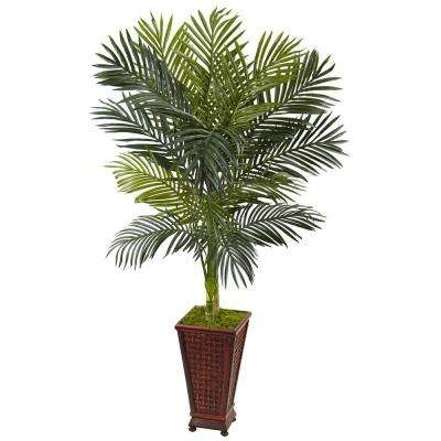 Indoor Golden Cane Palm Artificial Tree in Decorative Planter