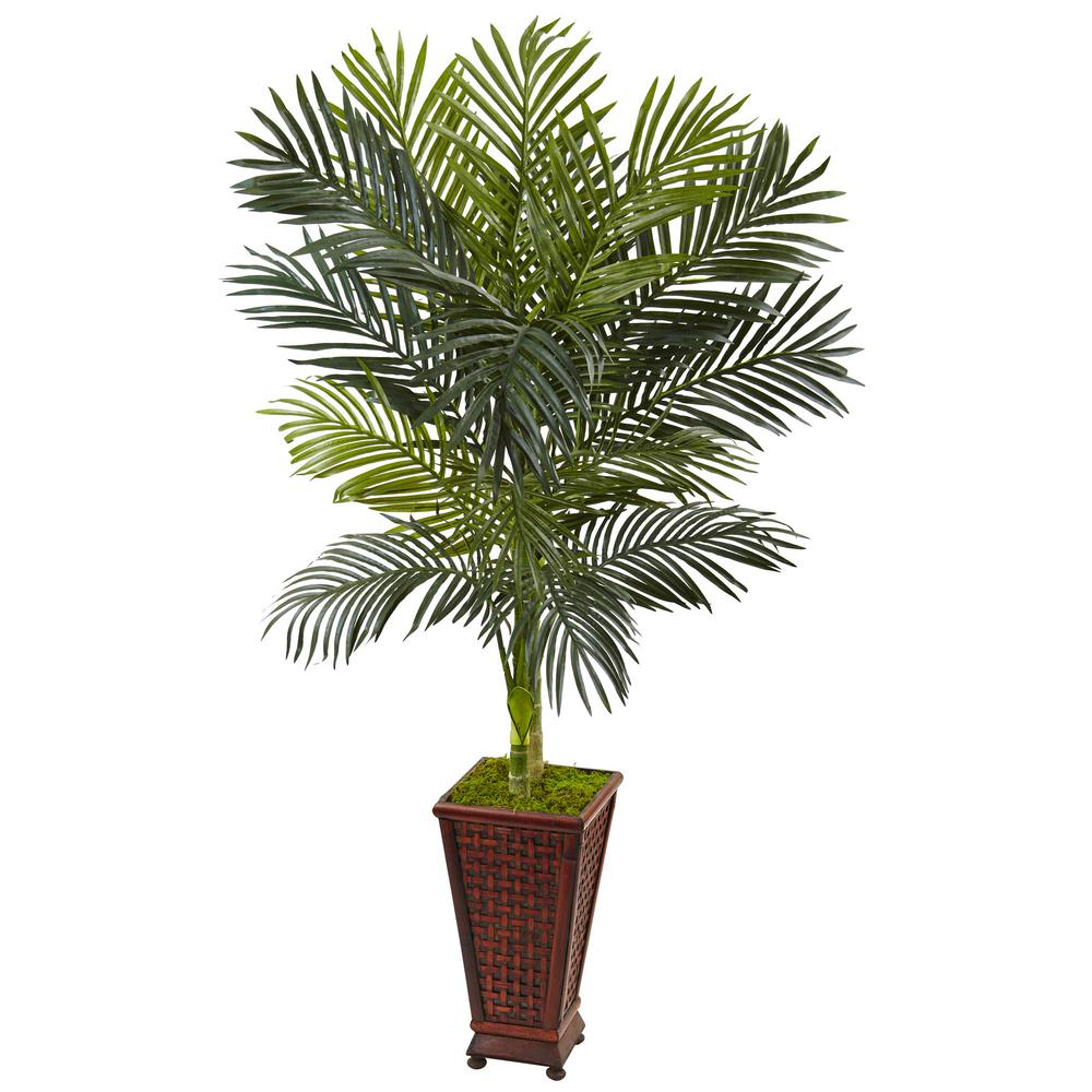 Nearly Natural Indoor Golden Cane Palm Artificial Tree In