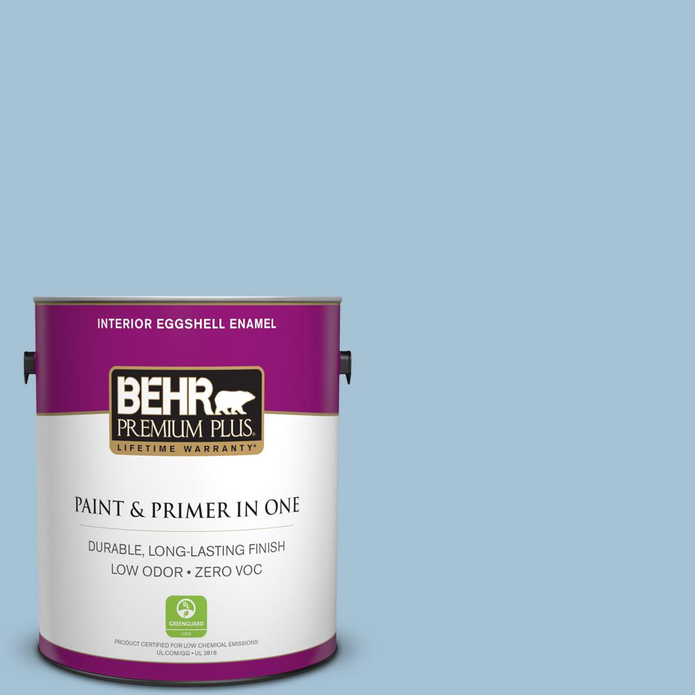 BEHR Premium Plus 1 gal. #550E-3 Viking Eggshell Enamel Zero VOC Interior Paint and Primer in One