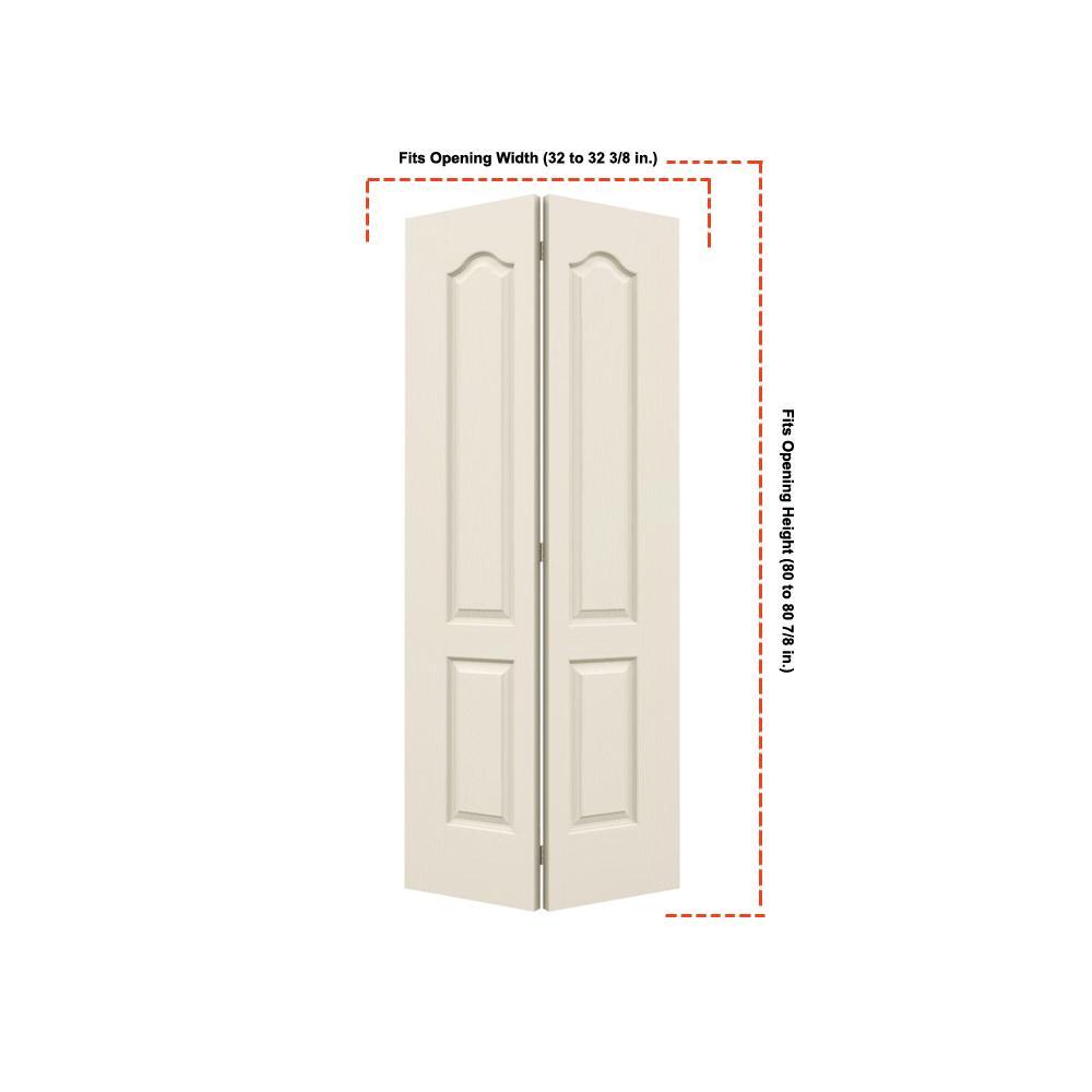 32 in. x 80 in. Camden Primed Textured Molded Composite MDF Closet Bi-Fold Door