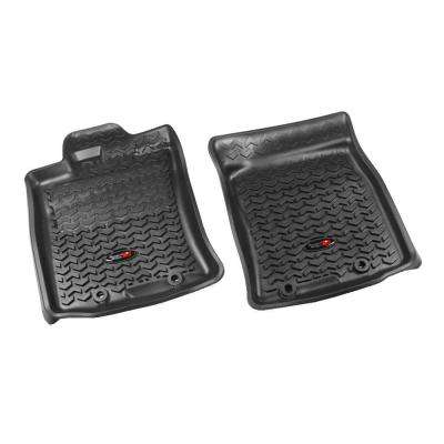 Floor Liner Front Pair Black 2012-2013 Toyota FJ Cruiser with Twist