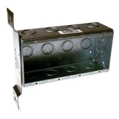 Four Gang Welded Switch Box, 2-1/2 in. Deep with FM Bracket and 1/2 and 3/4 in. Concentric KO's (10-Pack)