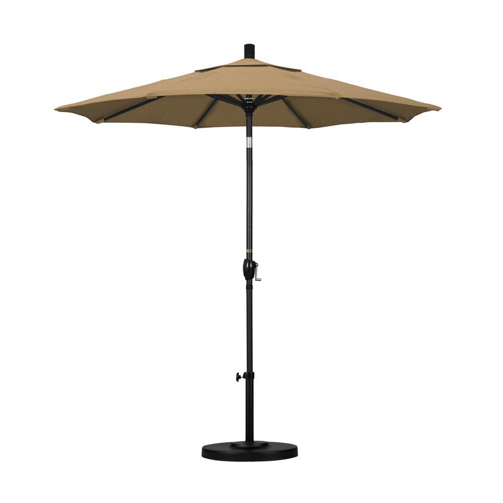 7-1/2 ft. Fiberglass Push Tilt Patio Umbrella in Straw Olefin