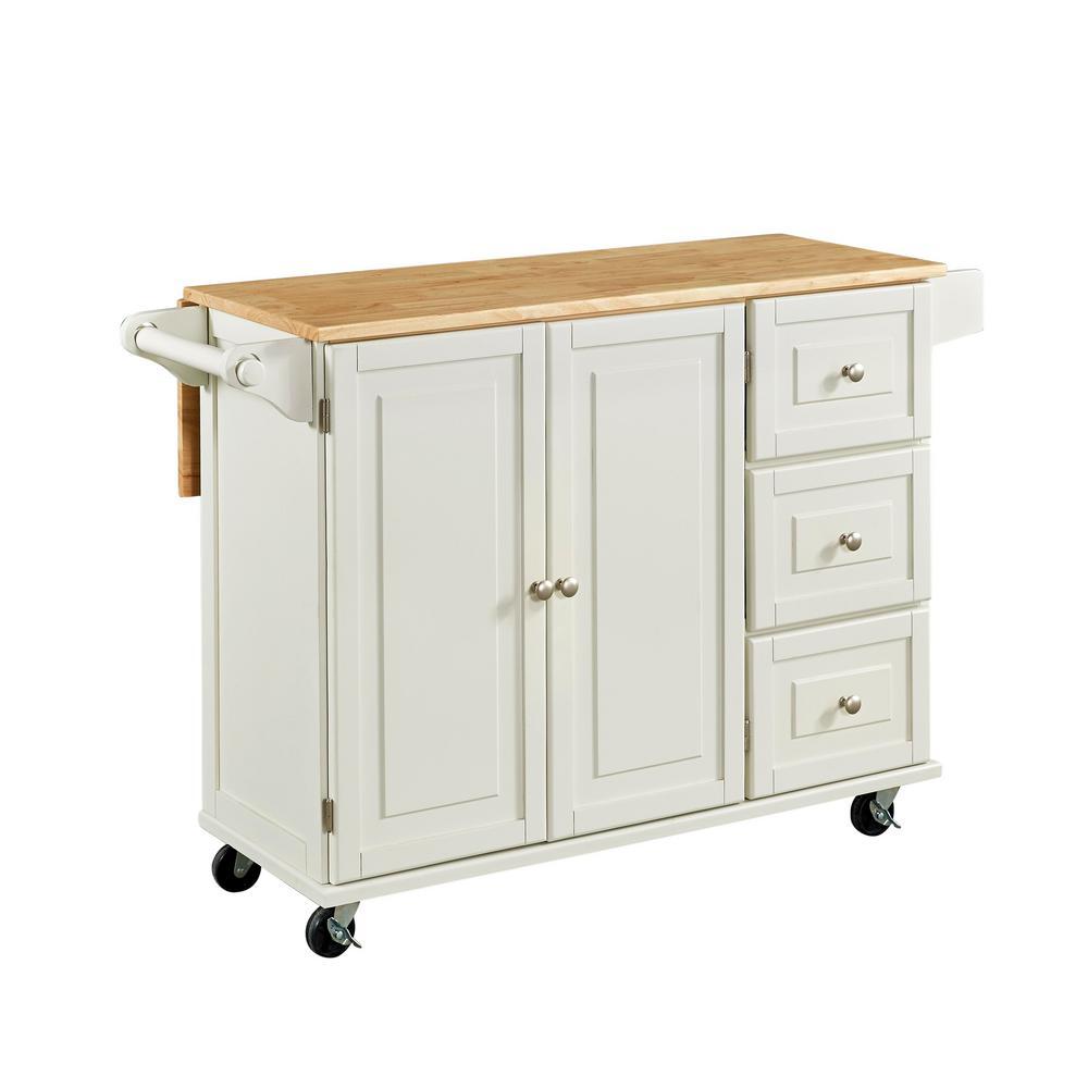 Liberty White Kitchen Cart